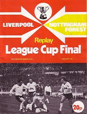 1978 LEAGUE CUP FINAL REPLAY LIVERPOOL v NOTTINGHAM FOREST (at MANCHESTER UNITED