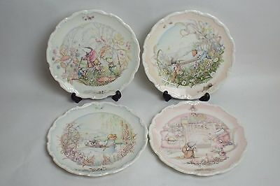 Set of 4 Wind in The Willows by Royal Doulton Design by Christina Thwaites