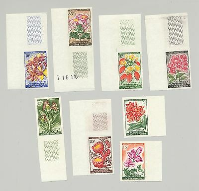 Ivory Coast #183-190 Flowers, Orchids 8v Imperf