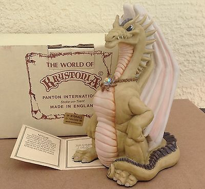 Krystonia Dragon figurine M. N'GRALL statue box paper World of, England