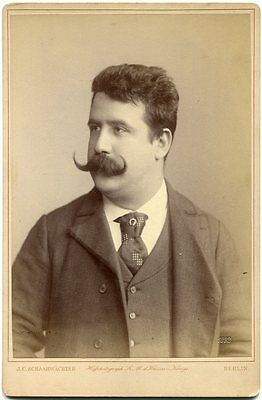 Ruggero Leoncavallo Italian Opera Composer Pagliacci 1892 Cabinet Card Photo