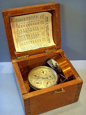 """negretti & Zambra"" Antique Six Dialed Air Flow Anemometer With Carrying Box."