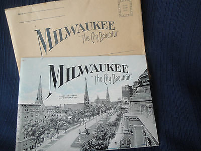 Milwaukee The City Beautiful Antique   Booklet
