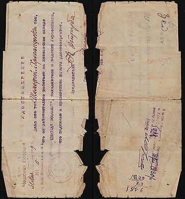 Ukraine, 1919, work doc, Kiev. c1276