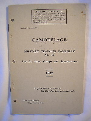 British Army Camouflage Training Manual 1942 Huts Camps Tactics