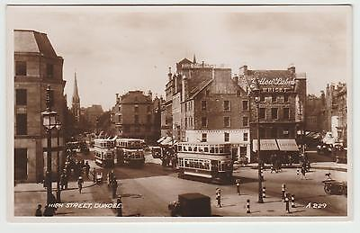 Dundee Trams, Liptons Shop, Yellow Label Whisky Ad, in 1934 Real Photo PPC, VG.