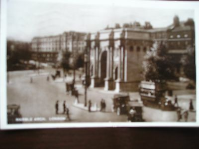 Marble Arch, London. Vehicles.  Real Photo