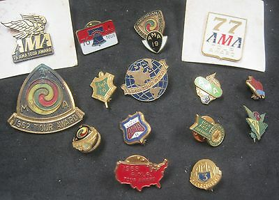 (16) Misc. A.M.A. Award Pins - All Used