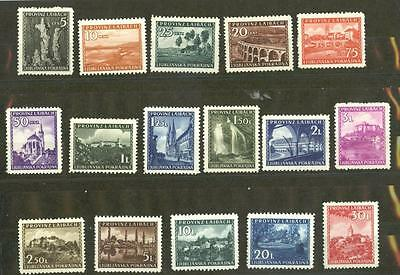 Germany WWII Occupations: Laibach Mi.45-60 MNH, cat. 360 euros  [MM2]