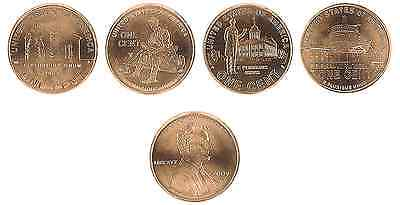 USA 4 x 1 Cent 2009 (D) UNC 'Lincoln' Kentucky, Indiana, Illinois, Washington