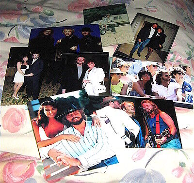 Bee Gees Barry Gibb 8 Photographs  ( Pack 7 )