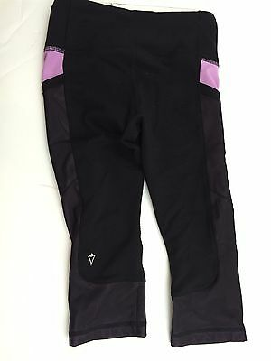 Ivivva by Lululemon Girls Black Mesh Leg Crops Size 6 - VGUC