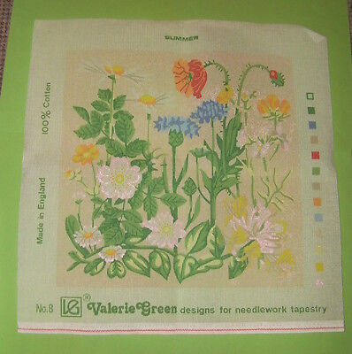 Valerie Green Designs 'Summer'  Printed Tapestry Canvas No.8