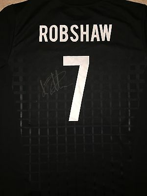 Signed Chris Robshaw England Rugby Union Shirt Harlequins Lions Six Nations New