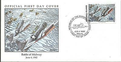 Arcade 99p Marshall Is 1992 Battle Of Midway 1942 FDC