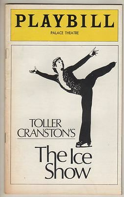 """Toller Cranston's  """"The Ice Show""""   Playbill  1977  Broadway   Palace  Theatre"""