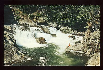 Great Smoky Mountains Park vintage Tenn.  postcard ~ The Sinks on Little River