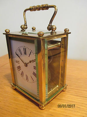 Old French Petite Carriage Clock,