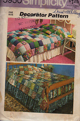 Vintage Simplicity Sewing Pattern  #5950 ~ Puff Quilt& Puff Pillow
