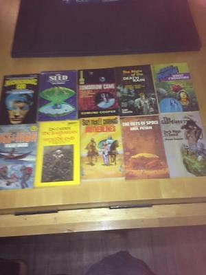Job Lot of  10 collectable Science Fiction Paperback Books 1960s+1970s start 99P
