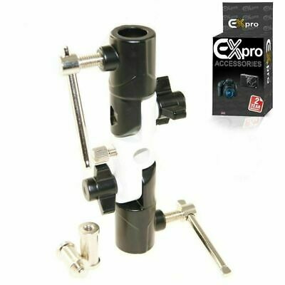 Swivel Umbrella Adapter Studio Flash Light Stand Mount Holder Bracket Spigot