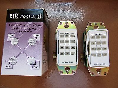 RUSSOUND BRAND. MODEL REV.2. MULTI-ZONE IN WALL KEYPAD. USE w/ PR-4Z/CP-4.6/CA
