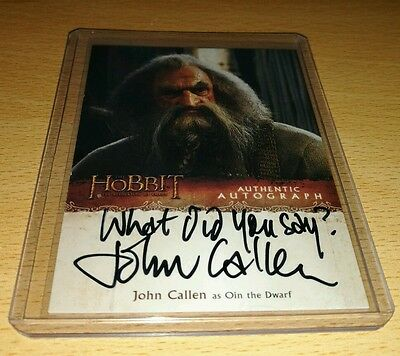 The Hobbit Desolation of Smaug: John Callen as 'Oin' Variant Autograph Card JC