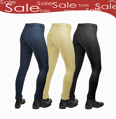 New Ladies Cotton Stretch Jodhpurs All Sizes + Colours Jodphurs On Sale
