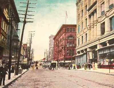Baltimore MD Lexington Near Howard Street Store Fronts Scene Old Postcard