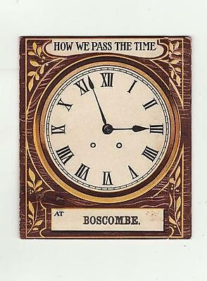 Novelty Pull Out Postal Folding Card 6 Pull Outs Boscombe Dorset Victorian?