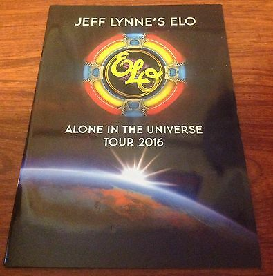 Elo Jeff Lynne Electric Light Orchestra Tour 2016 Book Program Alone In Universe