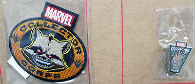 Marvel Collector Corps Guardians of Galaxy Rocket Patch & Groot Pin Set New