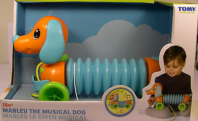 Tomy Produced Marley The Musical Dog Plastic Pull Toy For Children 18M+