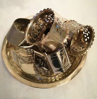 Small lot of mixed EPNS Silver Plate Napkin Rings