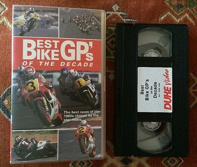 BEST BIKE GP's OF THE 1980's Chosen By The Riders Themselves - VHS VIDEO