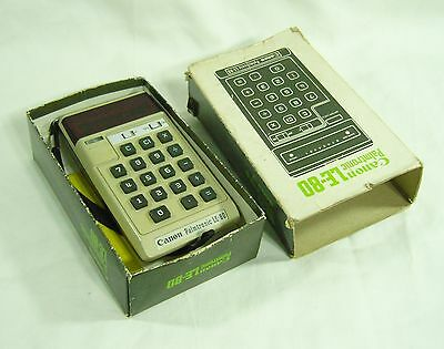 Canon Palmtronic LE 80 - Early LED Calculator with Original Box