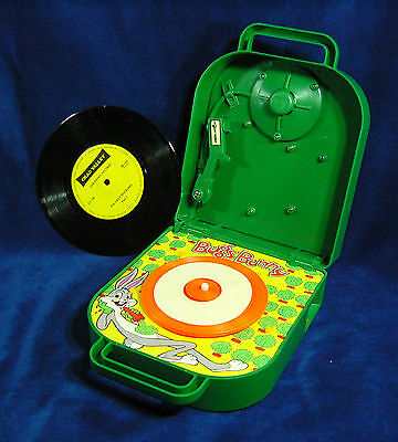 Bugs Bunny Vintage Phonograph - Record Player with original box and record
