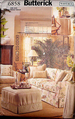 Butterick WAVERLY Slipcovers Chair Ottoman Sofa Couch Cover Pattern 6858 UC