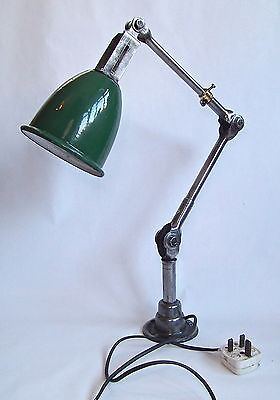 Vintage 1930's Dugdills Articulated Machinists Angle Lamp Industrial Factory