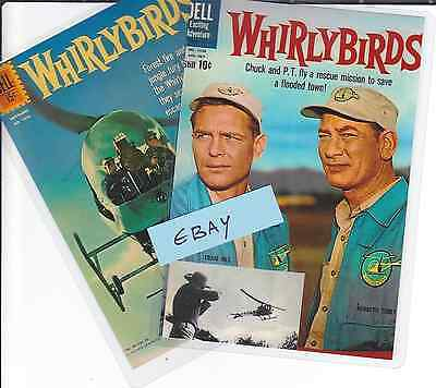 2 Photo Cards WHIRLYBIRDS (1960's TV Show) Clearance Line Only £1.49 Chuck & P T