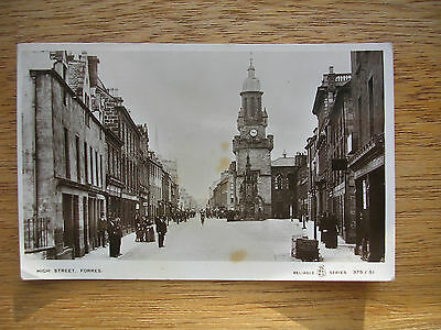 Forres, High St. R/p, P/m 1913, People, Shops
