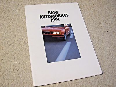 1991 Bmw Sales Brochure In English !!!