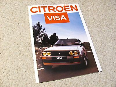 1986 Citroen Visa Sales Brochure In English !!