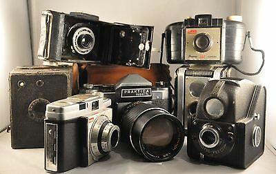 Job Lot Of 10 Old and Vintage Cameras