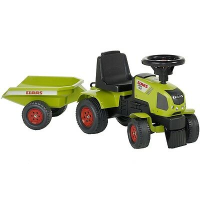 #sNew FALK Ride-on Tractor+ Trailer Green 1/3 Kid Outdoor Baby Cars Fun Play Toy