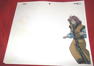 Fushigi Yuugi Yugi The Mysterious Play Anime Cel of Kaen with Douga Sketch