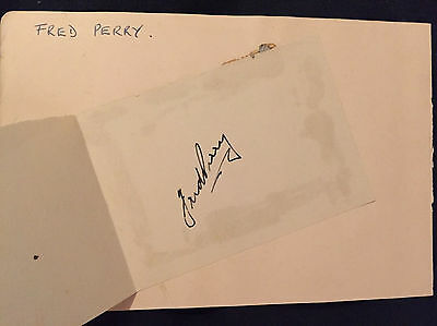 Fred Perry Hand Signed Album Page - Superb!