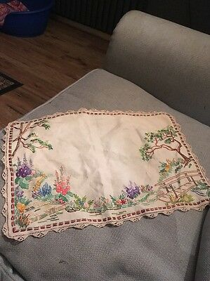 Vintage Embroidered Dressing Table mat