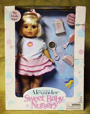 NEW IN BOX Madame Alexander Sweet Baby Nursery My Little Girl Baby Doll + Acc's