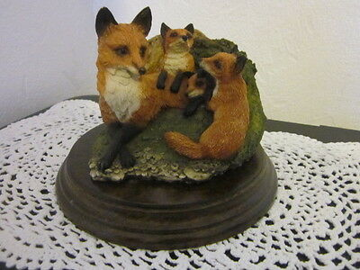 """1987 Richard Cooper & Co. shield COUNTRY ARTISTS """""""" RED FOX WITH YOUNG CA174 """""""""""